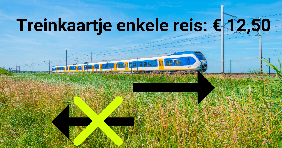 aanbieding enkele reis trein