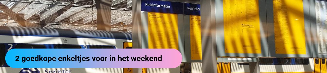 Goedkope treinkaartjes weekend
